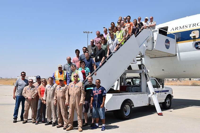 Right: Part of the ATom-1 team after arrival in Palmdale on 23 August 2016.