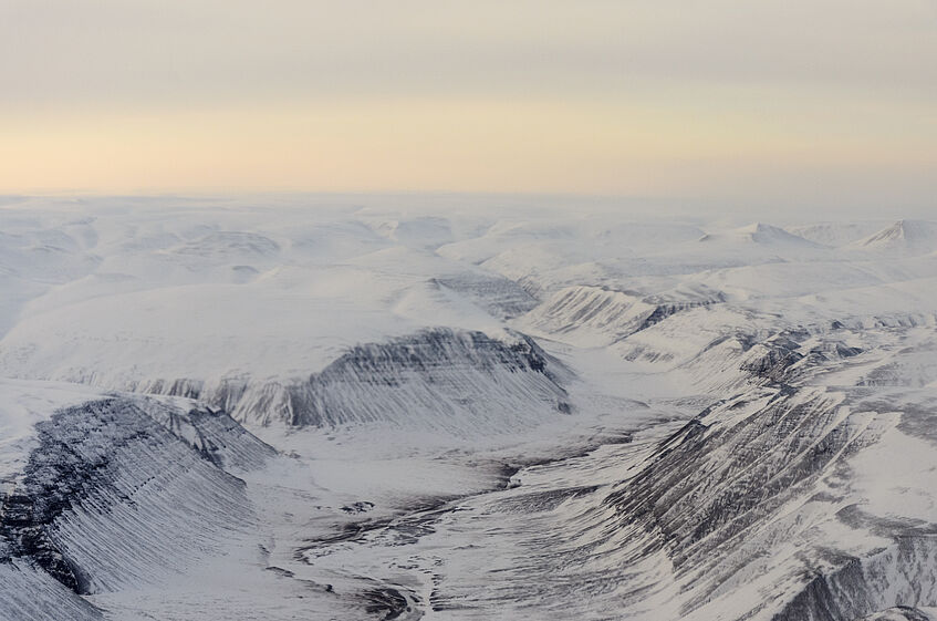 Glaciers and Mountains of Greenland.